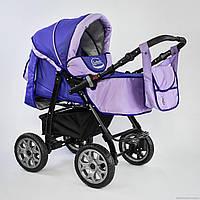 Детская коляска для новорожденных универсальная трансформер 2 в 1 Viki 86- C 80 цвет сиреневый