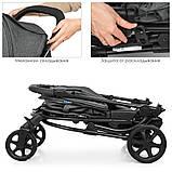 КОЛЯСКА ДЕТСКАЯ ME 1011L ZETA DENIM GRAY,  прогулочная коляска-книжка джинсовом серого цвета, фото 4