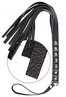 Шлепалка S&M Fancy Leather Floger Black, 50 див.