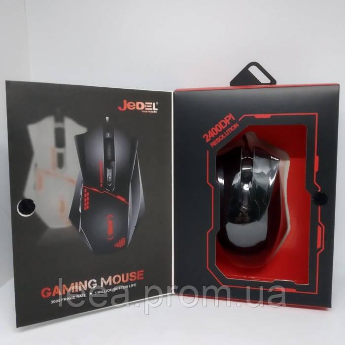 Игровая компьютерная проводная мышка USB Jedel GM300 с подсветкой