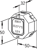 199275 ORAS Пристрій живлення(трансформатор), 230/12V, фото 2