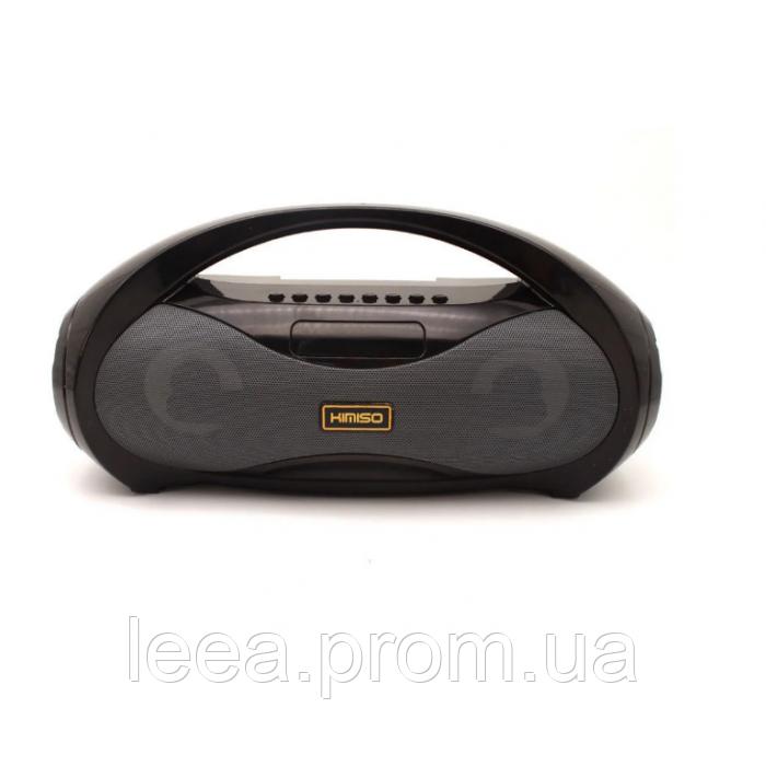 Портативний стерео бумбокс Kimiso KM-S2 (Bluetooth, USB, micro SD, FM, AUX, Mic) Чорний