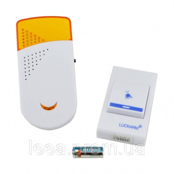 Бездротовий дверний дзвінок від розетки 220V Luckarm Intelligent A8603 Жовтий