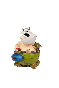 "Сувенир-копилка ""COW"" 9 см в ящ. міх: 3 вида код: 520154"