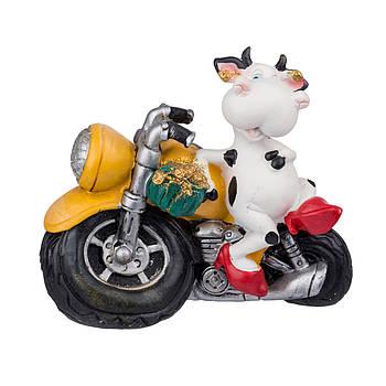 "Сувенир ""Корова на мотоцикле""17х15см в ящ.міх: 3 вида код: 520161"