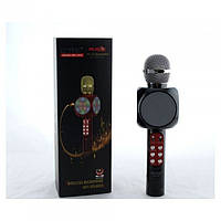 Бездротовий мікрофон караоке блютуз WSTER 1816 Bluetooth динамік USB Чорний