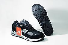 """Зимние кроссовки на меху New Balance 991 """"Черные/Серые"""", фото 2"""