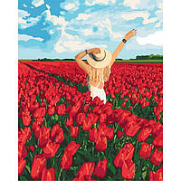Картина по номерам.  В плену цветов 40х50см арт. КНО4721