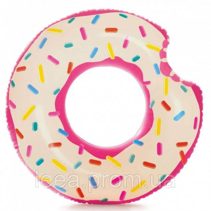 """Коло Intex 56265 NP """"Пончик"""" 107см, від 8-ми років Рожевий"""