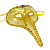Карнавальная маска Венеция с длинным носом, цвета в ассортименте