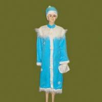Взрослый карнавальный костюм Снегурочка L-120см