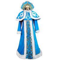 Взрослый карнавальный костюм Снегурочка Люкс