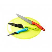 Набір металевих кухонних ножів GIAKOMA G-8137 з дошкою для нарізки