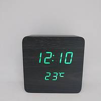 Настольные деревянные Часы VST 872 (зеленая подсветка)