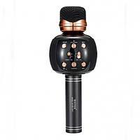 Бездротовий мікрофон караоке блютуз WSTER WS-2911 Bluetooth динамік USB Чорний