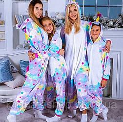 Кигуруми Единорог (в звездочку) M пижама женская флисовая
