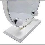 Зеркало для макияжа с LED подсветкой Led Mirror 5 LED JX-526 Белый, фото 2
