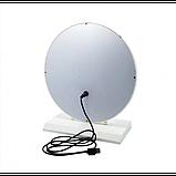 Зеркало для макияжа с LED подсветкой Led Mirror 5 LED JX-526 Белый, фото 4