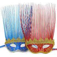 Карнавальная маска Венеция с пером - ирокез