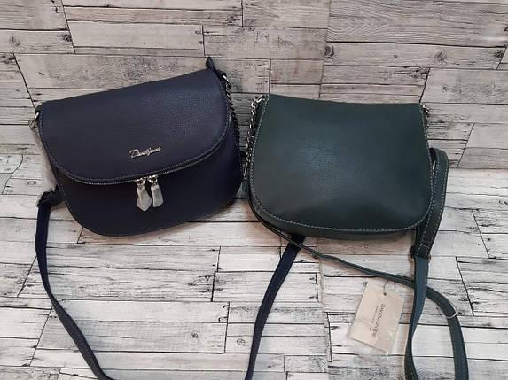 Стильная наплечная сумка из экокожи на молниях 22*16 см, фото 2