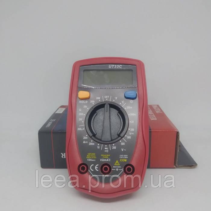 Цифровой мультиметр тестер вольтметр UT33C с термопарой