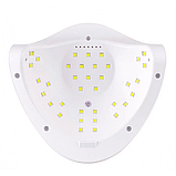 УФ лампа для гель-лака SUN Five LED UV Lamp 48 W для полимеризации, наращивания ногтей USB Розовая, фото 3