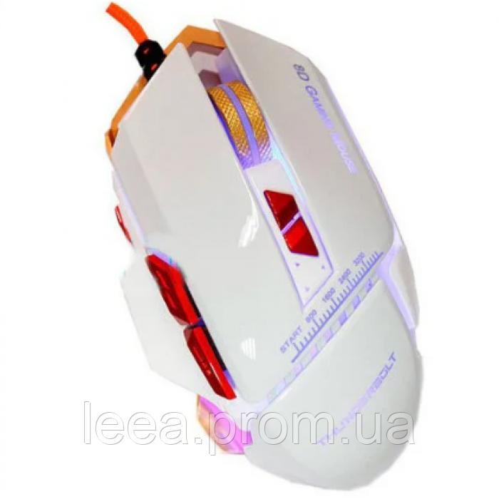 Компьютерная игровая мышь, мышка Zornwee GX10 с подсветкой Белая