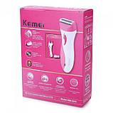 Женский эпилятор Kemei KM-3018 триммер эпиляция бикини, фото 8