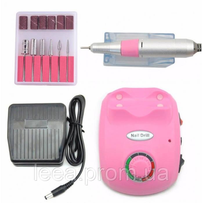 Профессиональный фрезер Glazing Machine Nail Master 208 Розовый