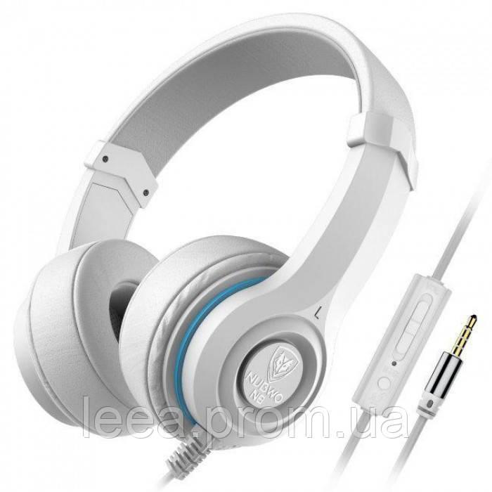 Наушники NUBWO N8 со встроенным микрофоном Белые