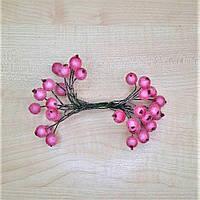 Сахарные ягоды декоративные розовые на проволоке 40 шт.