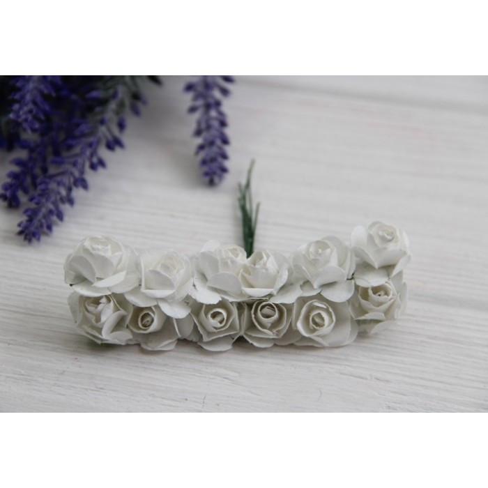 Розы бумажные , белые    144 шт