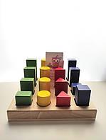 Деревянный сортер Фигуры и размеры, 2+, фото 1