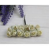 Розы бумажные , айвори     144 шт