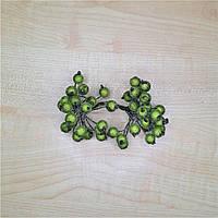 Сахарные ягоды декоративные зеленые на проволоке 40 шт.