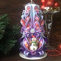 Новорічний набір свічок з новорічною символікою