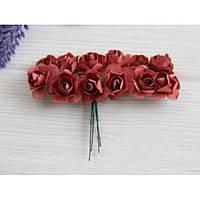 Розы бумажные , пыльная роза      144 шт