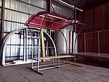 Кольоровий монолітний полікарбонат, червоний, м. кв, фото 5