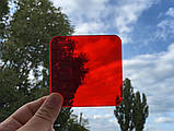 Кольоровий монолітний полікарбонат, червоний, м. кв, фото 2