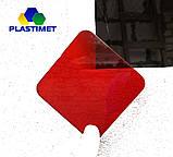 Кольоровий монолітний полікарбонат, червоний, м. кв, фото 3