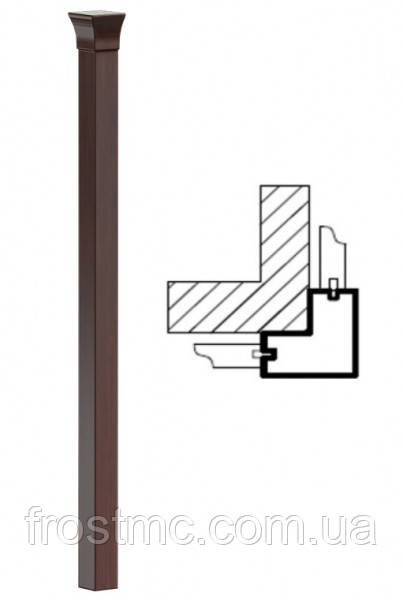 MONACO Планка соединительная угловая MO-slupek-NZ-m Taranko