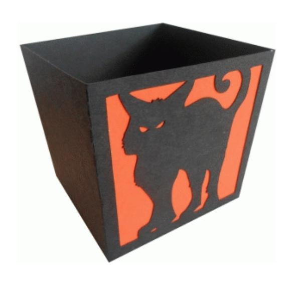 """Коробочка для попокрна и сладостей """"Black Cat"""""""
