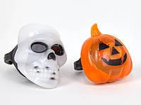 Кольцо Светящиеся тыквы и черепа Хэллоуин (24 штуки в коробке)