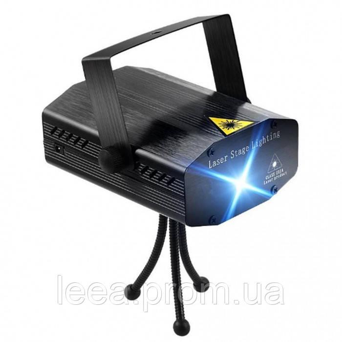 Лазерный проектор, стробоскоп, диско лазер UKC HJ08 4 в 1 c триногой  4053