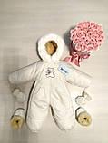 Детские комбинезоны на выписку белые, бежевые, фото 9