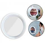 Гибкое зеркало на присоске с 5x увеличением и подсветкой LED MIRROR 5X, фото 2
