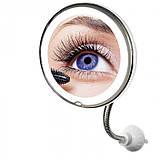Гибкое зеркало на присоске с 5x увеличением и подсветкой LED MIRROR 5X, фото 5