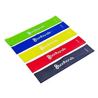 Набор спортивных резинок Bodbands для занятий фитнесом комплект лент эспандеров для ног 5 шт в 1 + подарок
