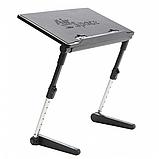 Регулируемая Подставка для ноутбука кулер столик с охлаждением AIR SPACE, фото 3
