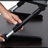 Регулируемая Подставка для ноутбука кулер столик с охлаждением AIR SPACE, фото 4